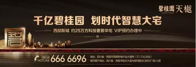 世界500强房企登临西昌,西部新城建设将有大动作!