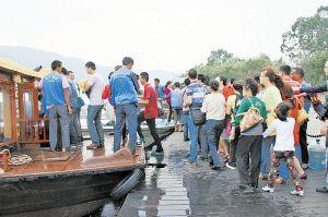 西昌清明小长假 9481人次乘船游邛海赏美景